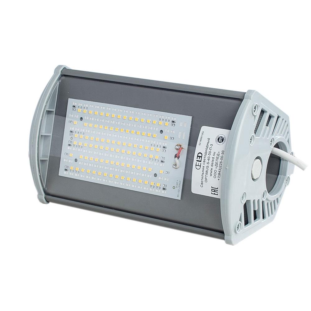 Складской светодиодный светильник OPTIMUS-P-40-50-П 38 Вт