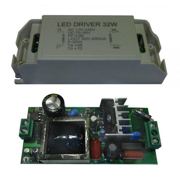 Led драйвер светодиодный 32Вт AC220V DC75-95V 320-330mА