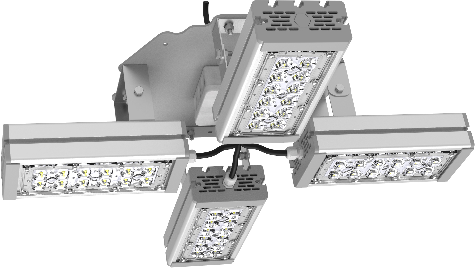 Светильник подвесной Ромашка High-Bay SVT-P-FLOWER-108Вт-12 (с защитой от 380В, трос)