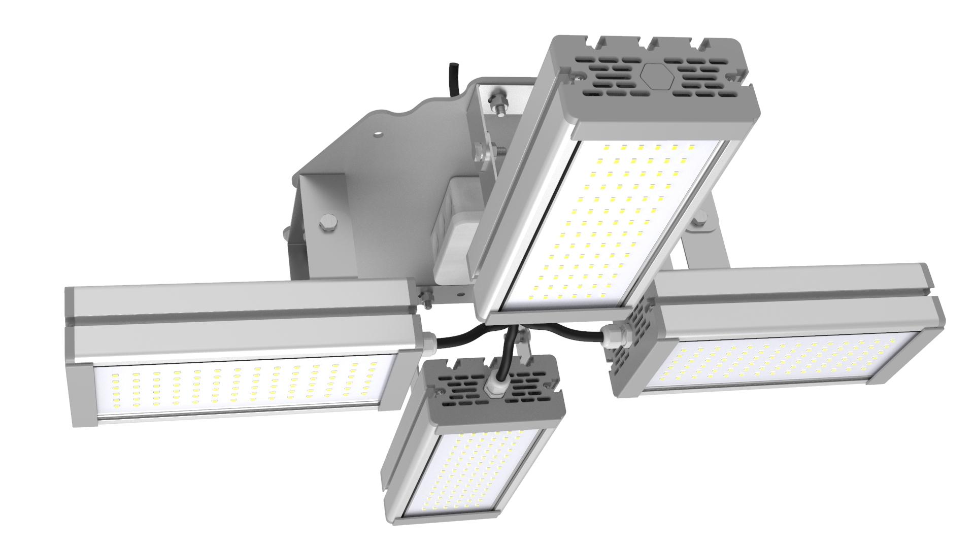 Светильник подвесной Ромашка High-Bay SVT-P-FLOWER-128Вт (с защитой от 380В, трос)