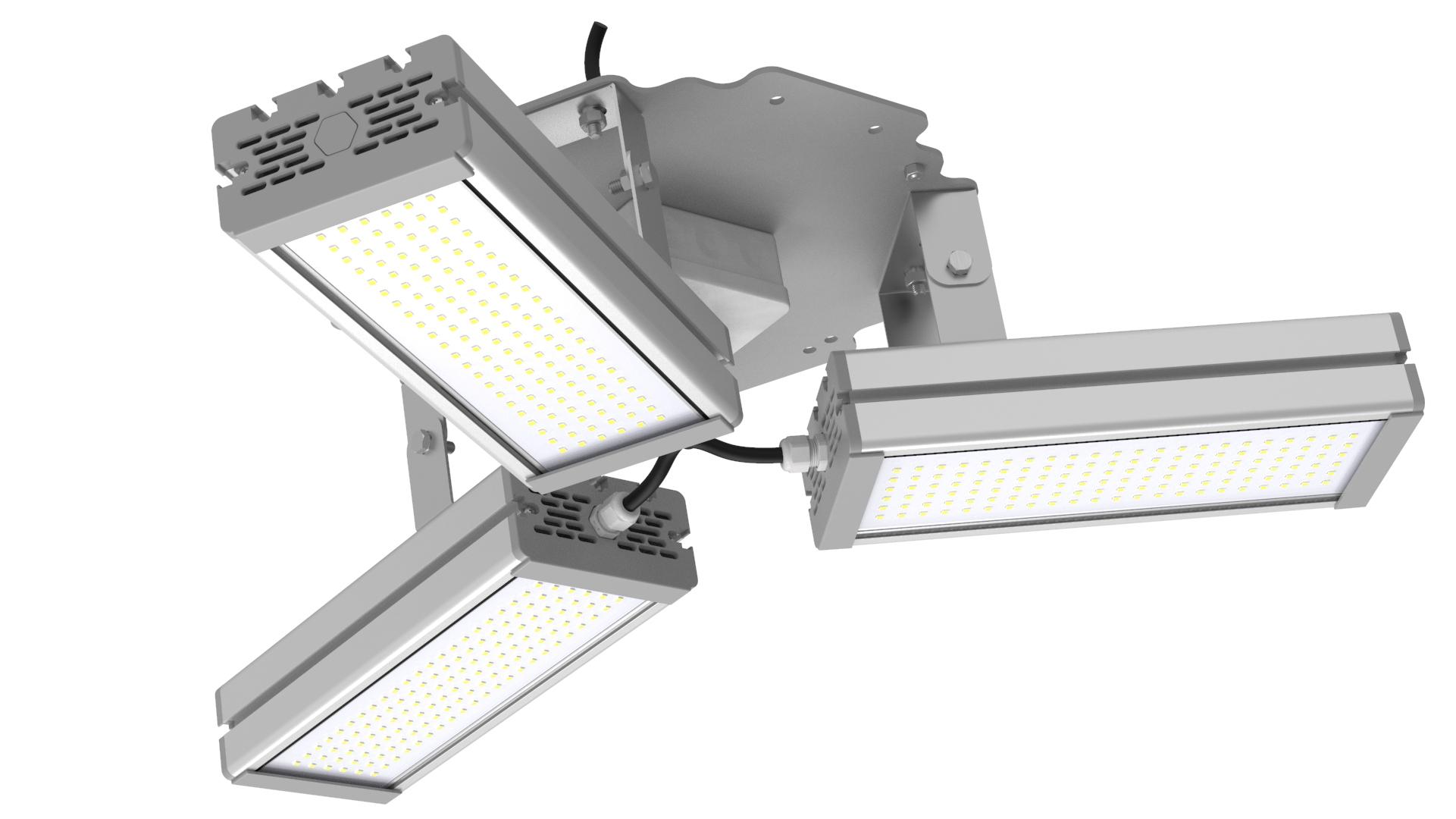 Светильник подвесной Ромашка High-Bay SVT-P-FLOWER-144Вт (с защитой от 380В, трос)