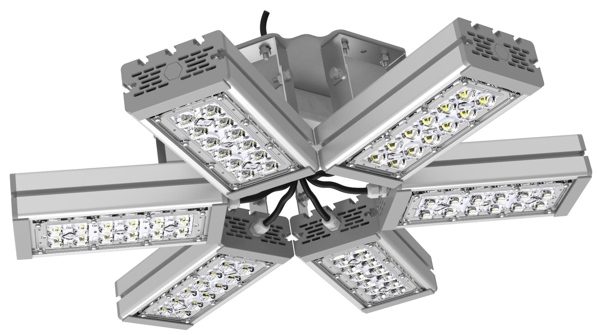 Светильник подвесной Ромашка High-Bay SVT-P-FLOWER-162Вт-12 (с защитой от 380В, трос)