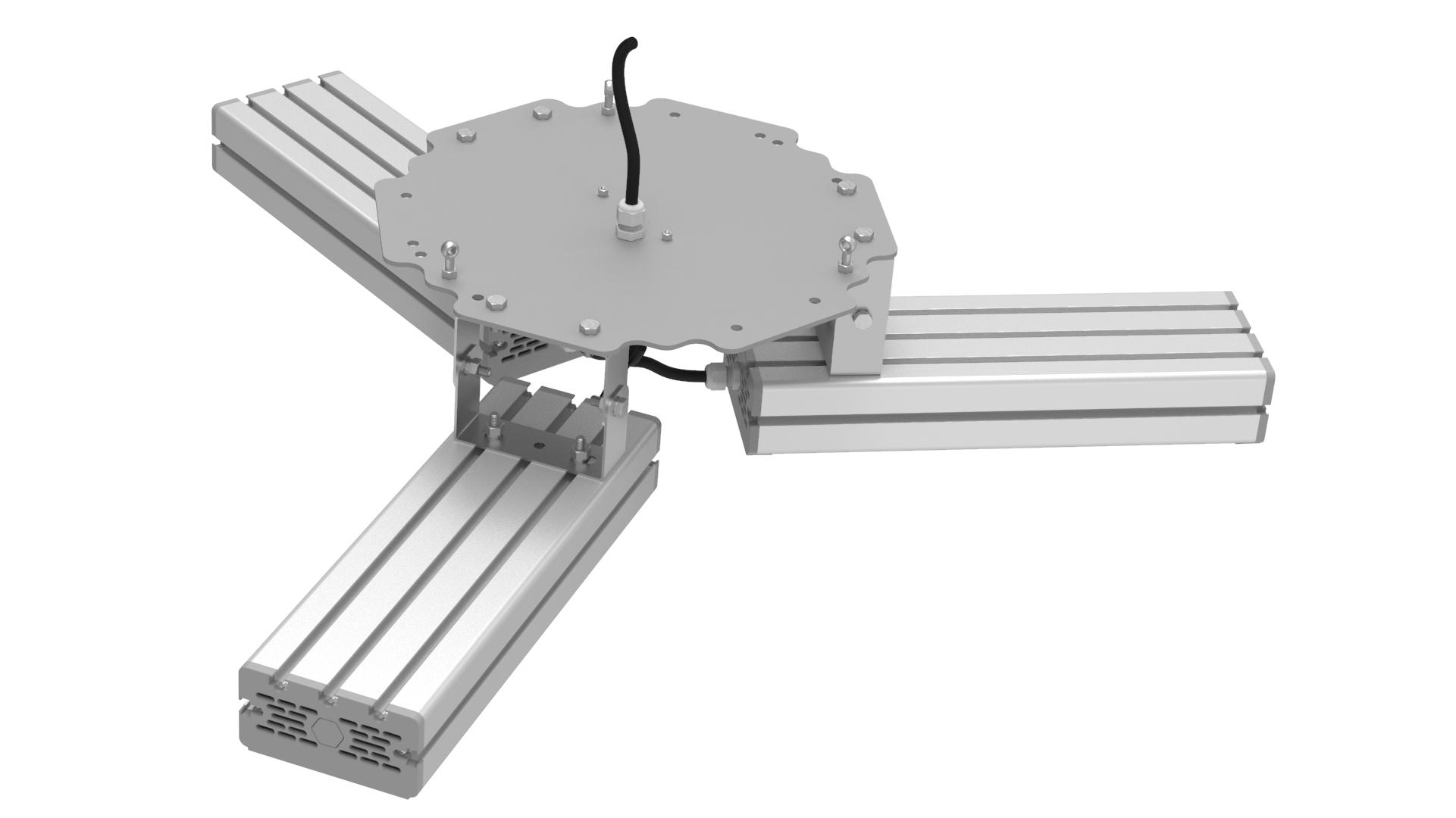 Светильник подвесной Ромашка High-Bay SVT-P-FLOWER-183Вт (с защитой от 380В, трос)