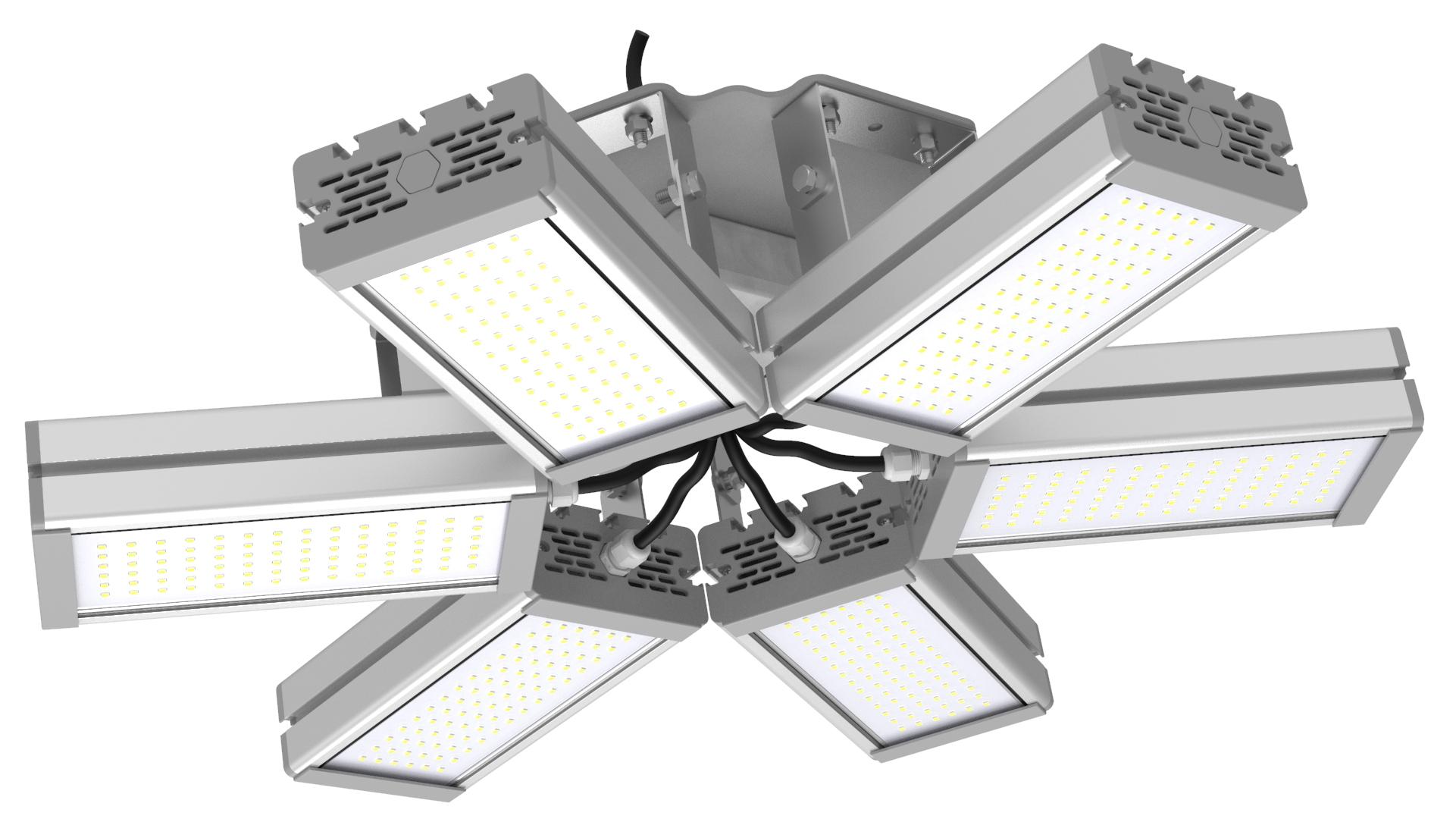 Светильник подвесной Ромашка High-Bay SVT-P-FLOWER-192Вт (с защитой от 380В, трос)