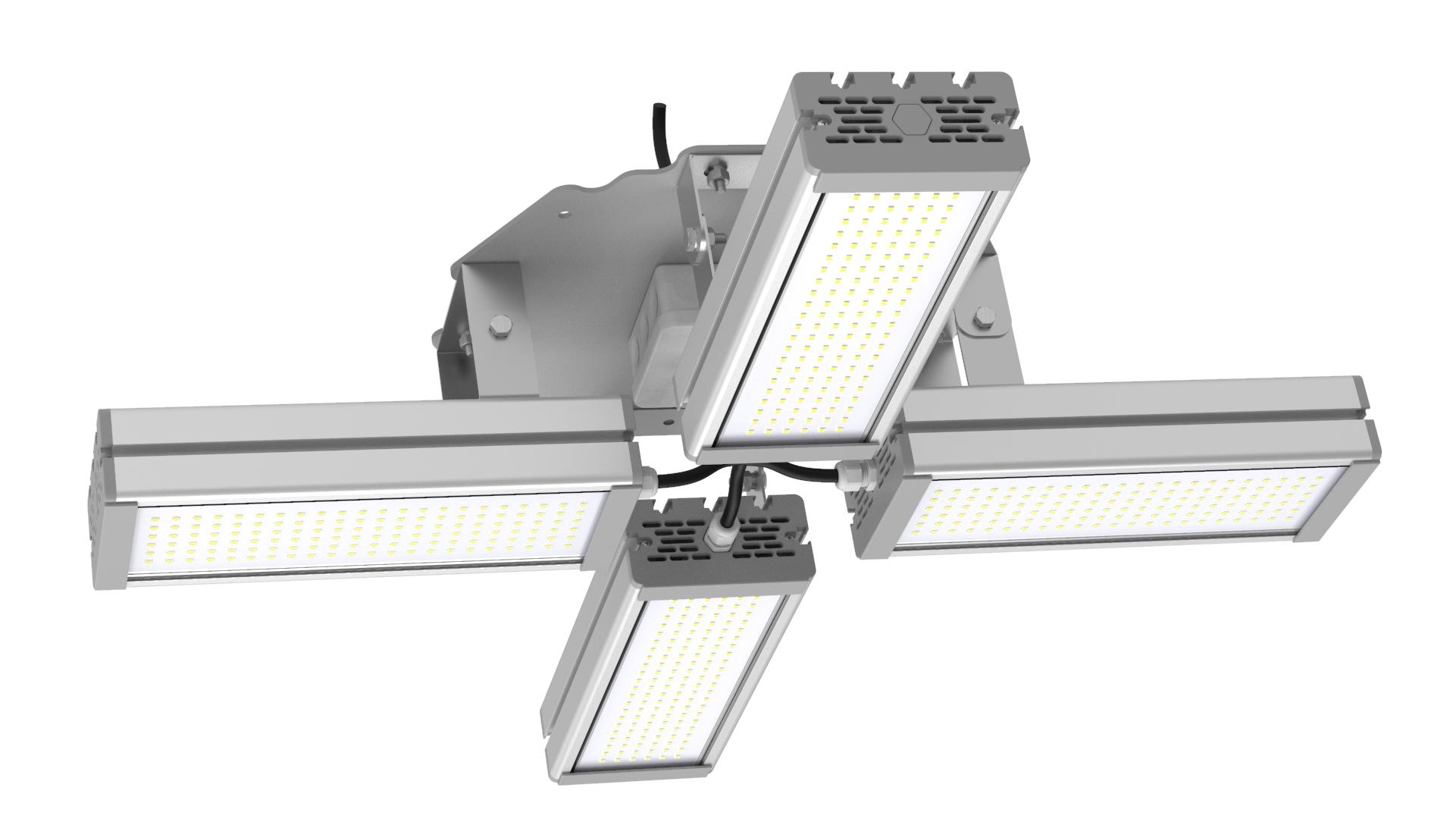 Светильник подвесной Ромашка High-Bay SVT-P-FLOWER-192Вт (с защитой от 380В, трос, 48x4)