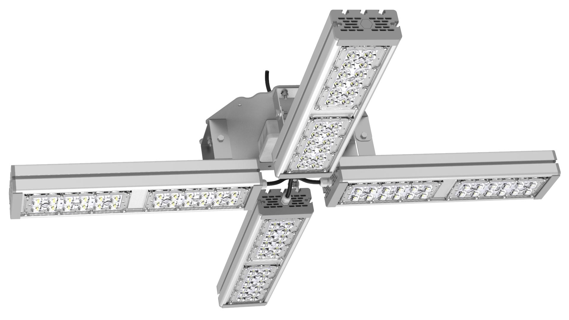 Светильник подвесной Ромашка High-Bay SVT-P-FLOWER-212Вт-12 (с защитой от 380В, трос)