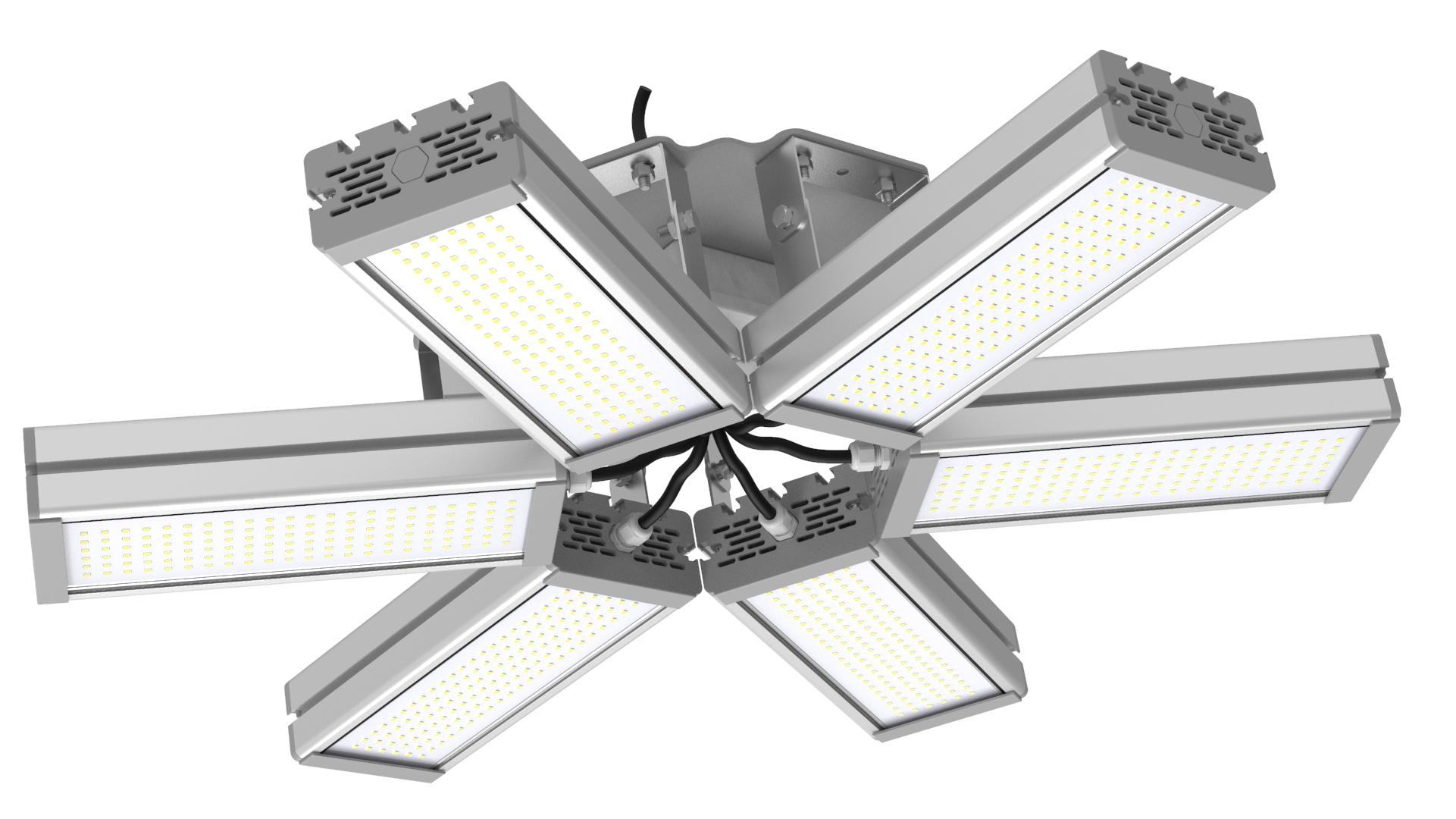 Светильник подвесной Ромашка High-Bay SVT-P-FLOWER-288Вт (с защитой от 380В, трос)