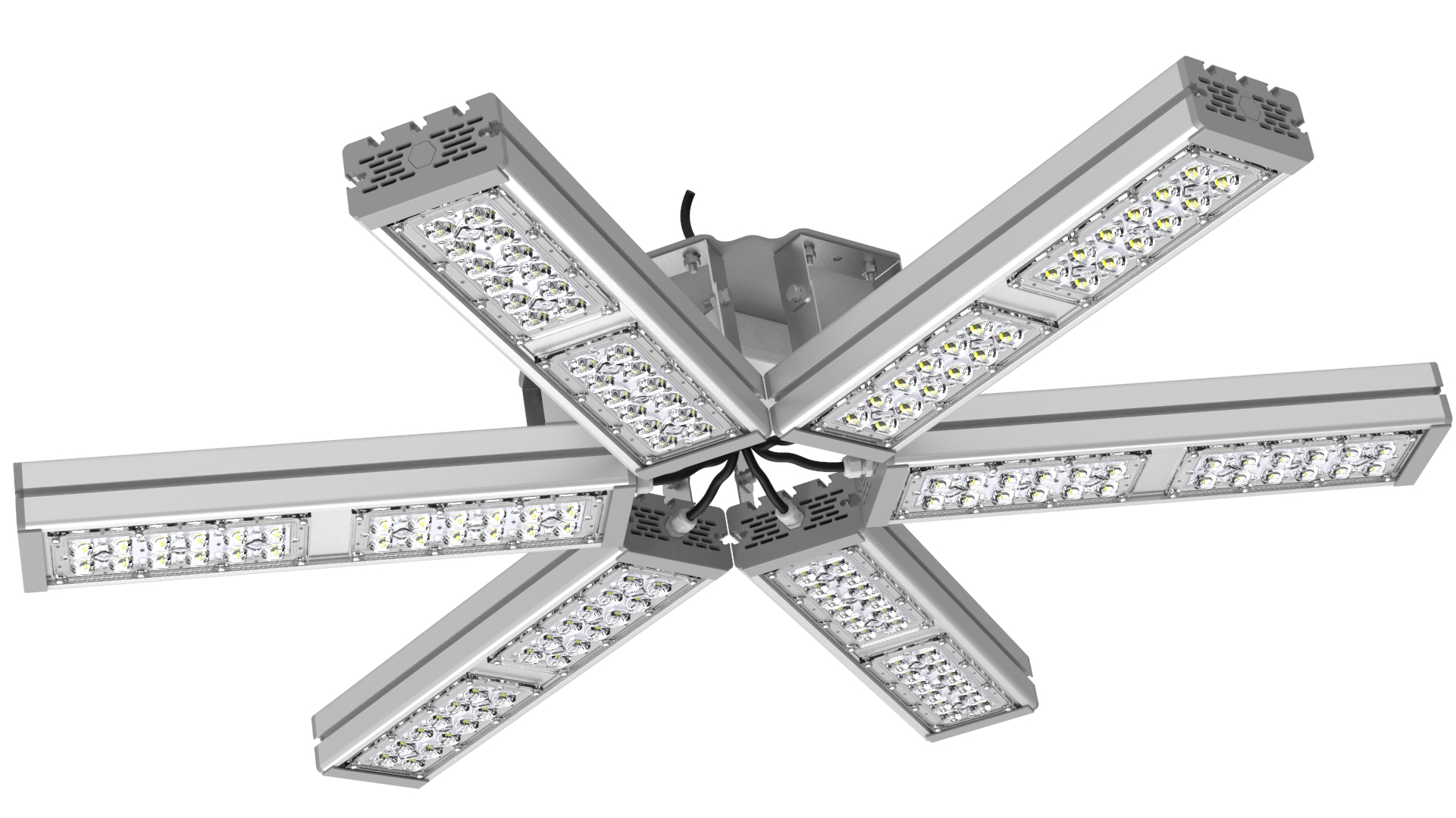 Светильник подвесной Ромашка High-Bay SVT-P-FLOWER-318Вт-58 (с защитой от 380В, трос)