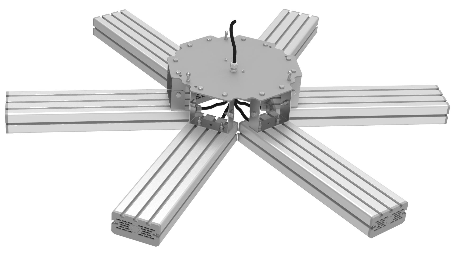Светильник подвесной Ромашка High-Bay SVT-P-FLOWER-318Вт-12 (с защитой от 380В, трос)