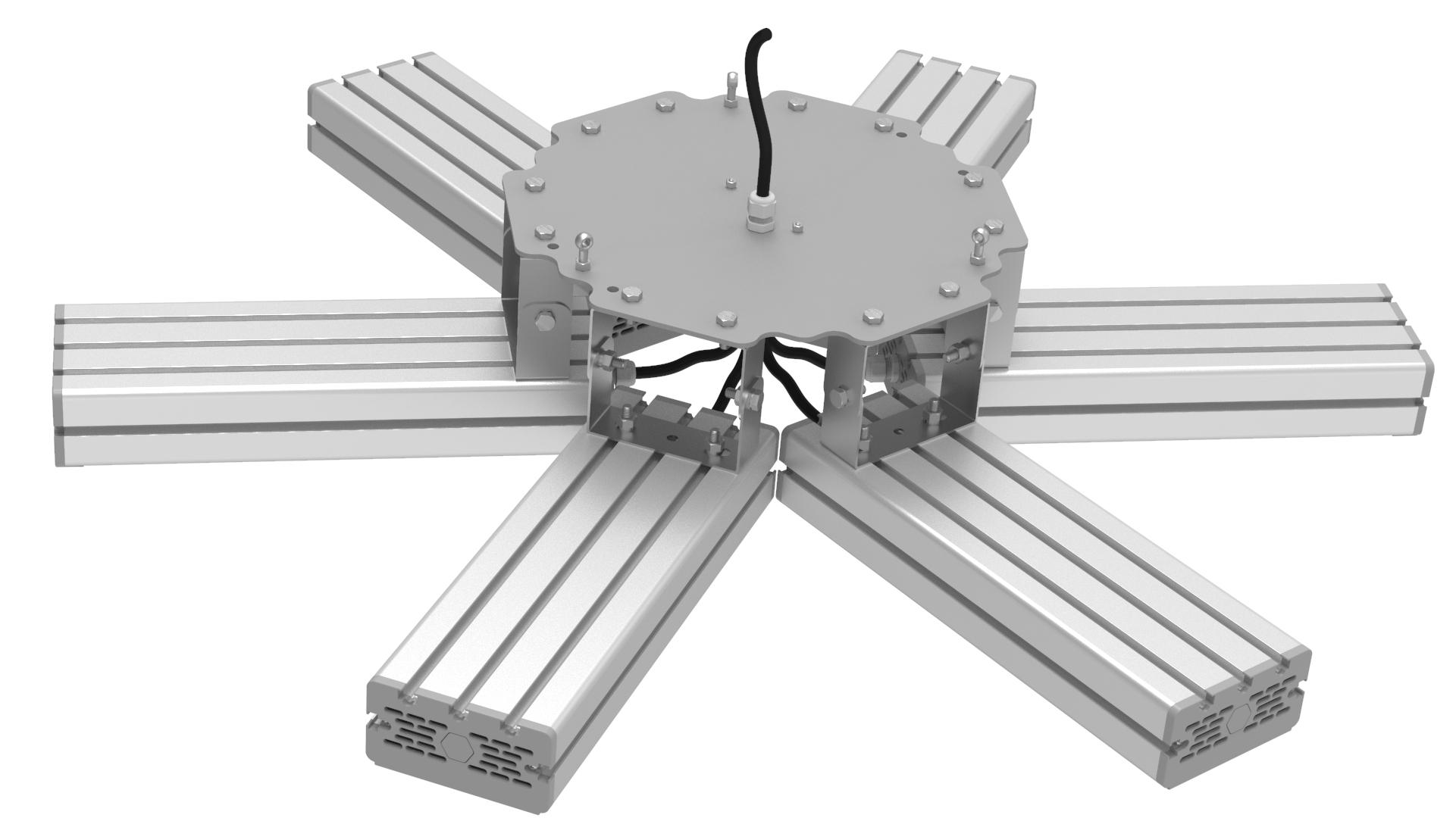 Светильник подвесной Ромашка High-Bay SVT-P-FLOWER-366Вт (с защитой от 380В, трос)