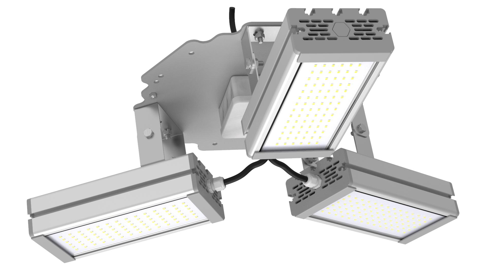 Светильник подвесной Ромашка High-Bay SVT-P-FLOWER-96Вт (с защитой от 380В, трос)