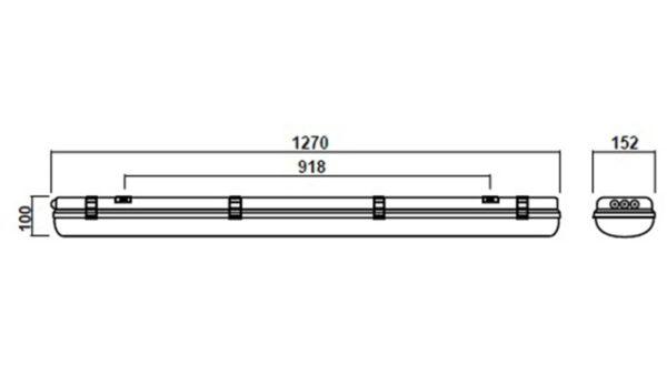 Светильник аварийный айсберг SVT-P-I-1280-30Вт-T-inBAT-2h