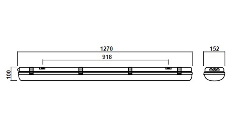 Промышленный светодиодный светильник SVT-P-I-1280-65Вт-M