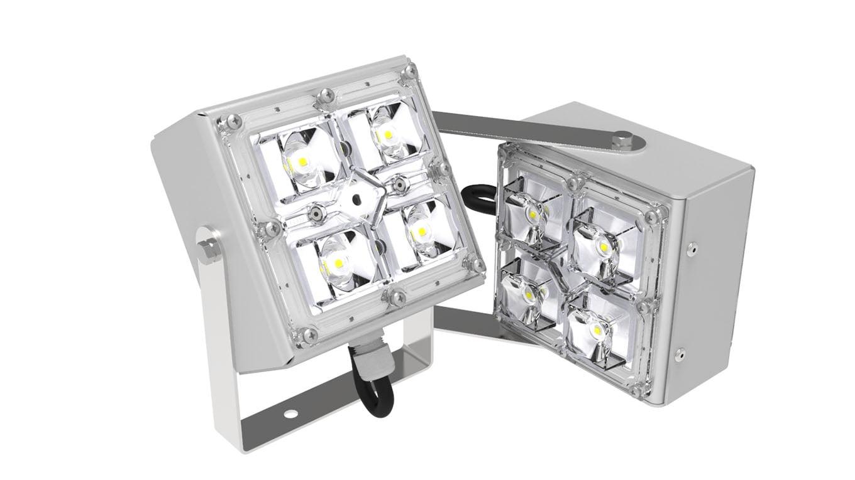 Мини-прожектор двухлучевой SVT-STR-2MX-18Вт-65-3000К-DS
