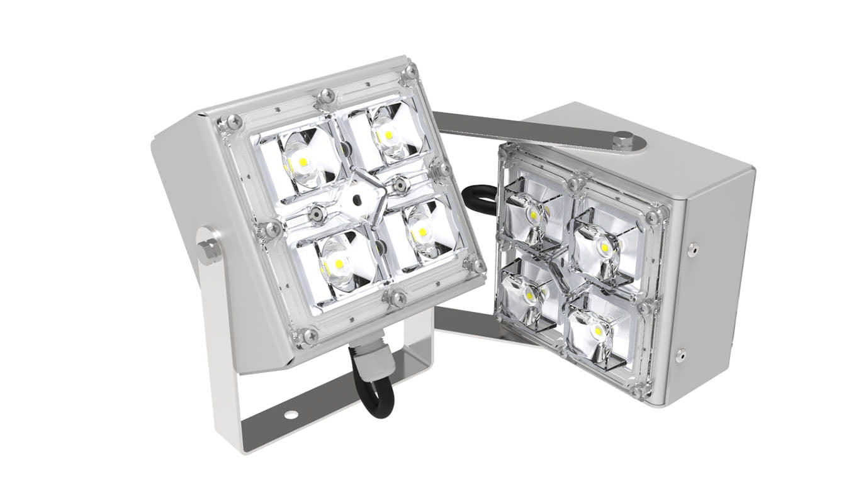 Мини-прожектор двухлучевой SVT-STR-2MX-9Вт-25-3000К-DS