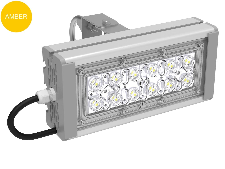 Прожектор с оптикой янтарный SVT-STR-M-30Вт-27-AMBER