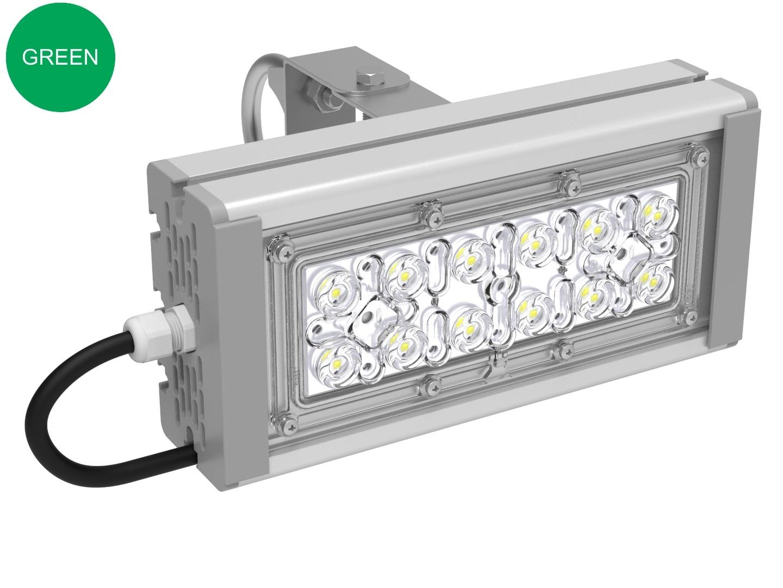 Прожектор с оптикой зеленый SVT-STR-M-30Вт-12-GREEN