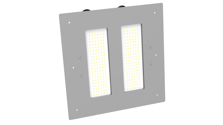 Светильник для АЗС Модуль SVT-STR-M-96Вт-AZS-DUO (рамка 350х350)