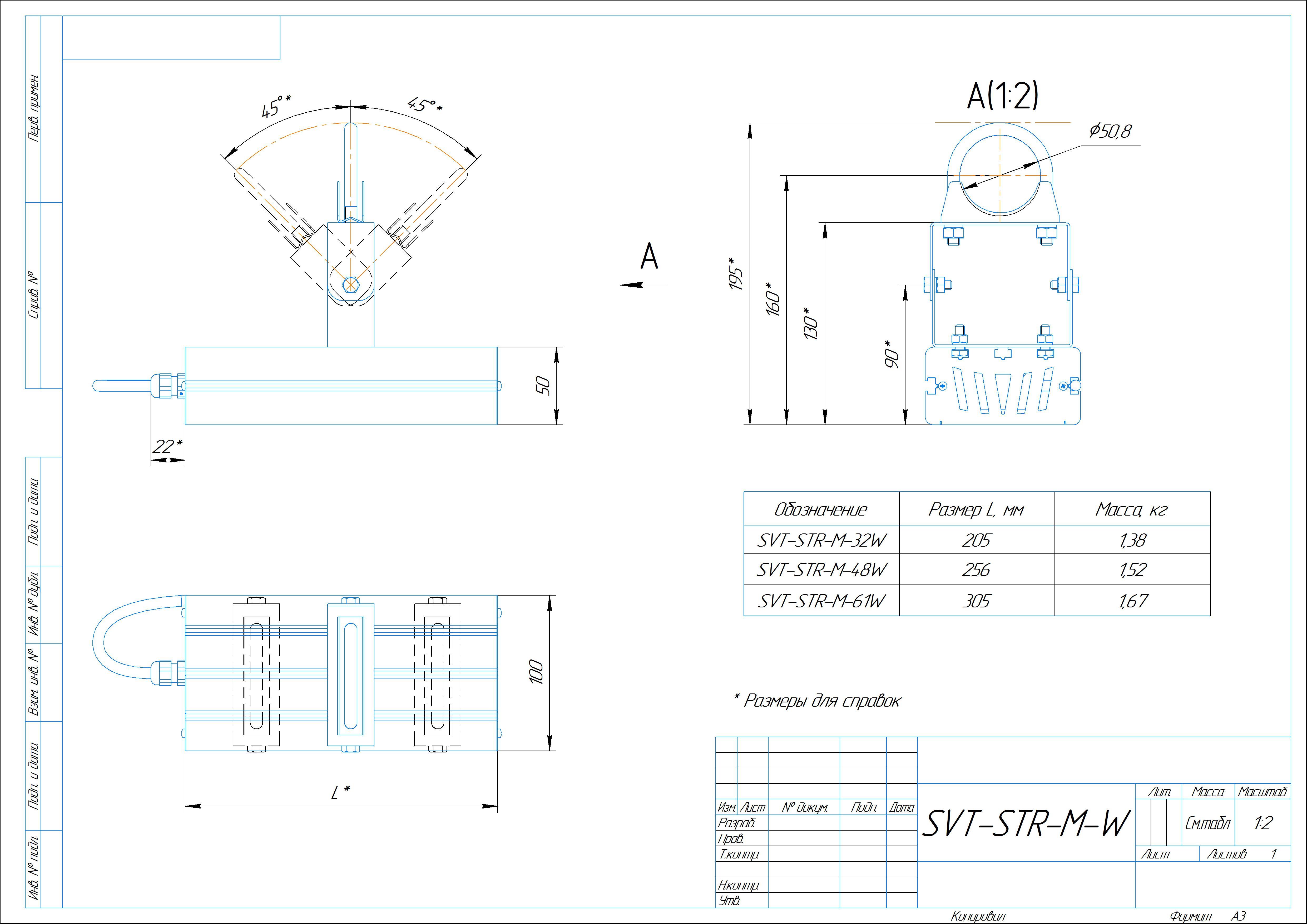 Светодиодный фито-светильник Модуль SVT-RND-FITO-M-32Вт (с защитой от 380)