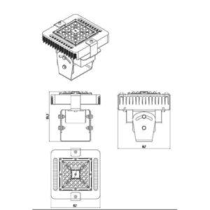 Светильник светодиодный промышленный EMS-EXAIR-P1/54 54Вт IP67