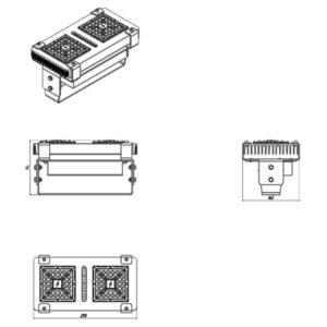 Светильник светодиодный промышленный EMS-EXAIR-P2/108 108Вт IP67