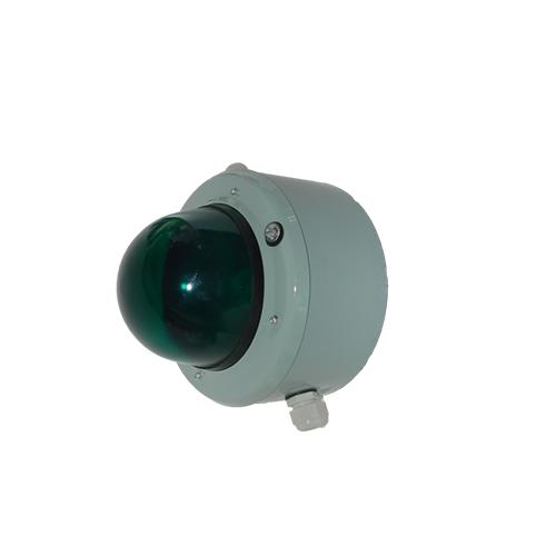 Светосигнальный прибор СС-56 с решеткой зеленый 60Вт