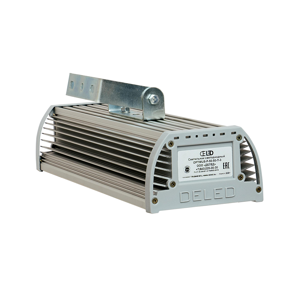 Промышленный светодиодный светильник со вторичной оптикой OPTIMUS-P1-60 OPTIC