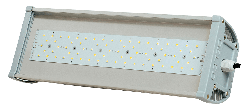 Промышленный светодиодный светильник со вторичной оптикой OPTIMUS-P1-50 OPTIC