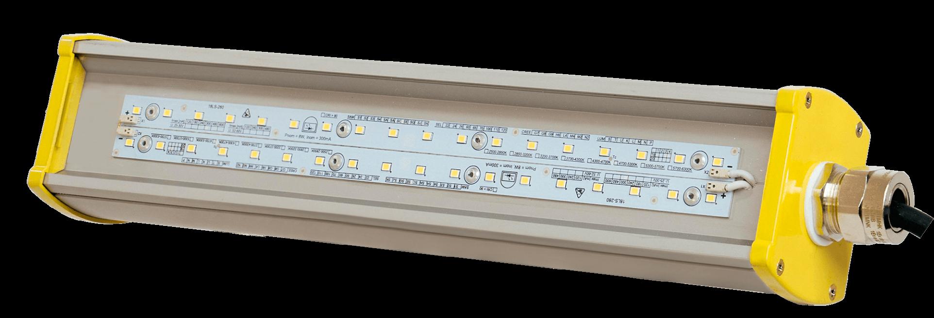 Взрывозащищенный светодиодный светильник LONG-Ex-100 L1,5